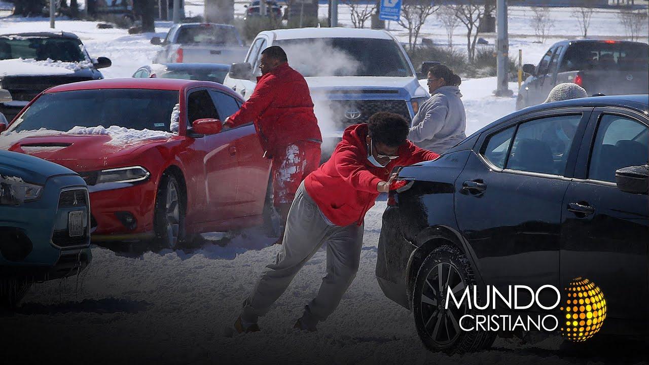 Las iglesias se unen para ayudar a los afectados por la tormenta de nieve que se vivió en Texas.