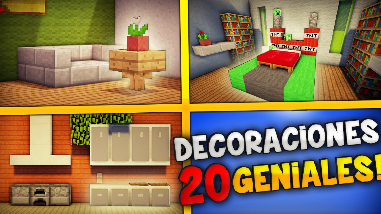 Minecraft en directo 25 decoraciones geniales para tu for Decoraciones para tu casa