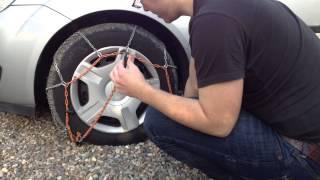 mettre et enlever les chaînes voiture - Montage et démontage de chaine neige