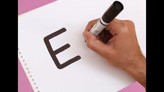 Comment activer la Lettre ''E'' dans un dessin animé ERLENMEYER ! Amusant avec des Alphabets de Dessin pour les enfants