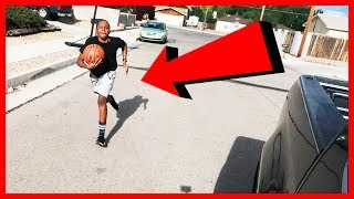 DRIVE BY DUNK CHALLENGE GONE WRONG! #DriveByDunkChallenge