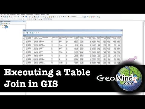 GIS Fundamentals and Mapping (Lab): Executing a Table Join