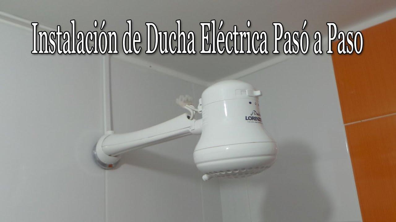 Instalaci n de ducha el ctrica pas a paso youtube for Como instalar una terma electrica