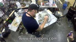 GoPro Hero 3+ Black testing on Chris Molding a Pig Head at Evilusions