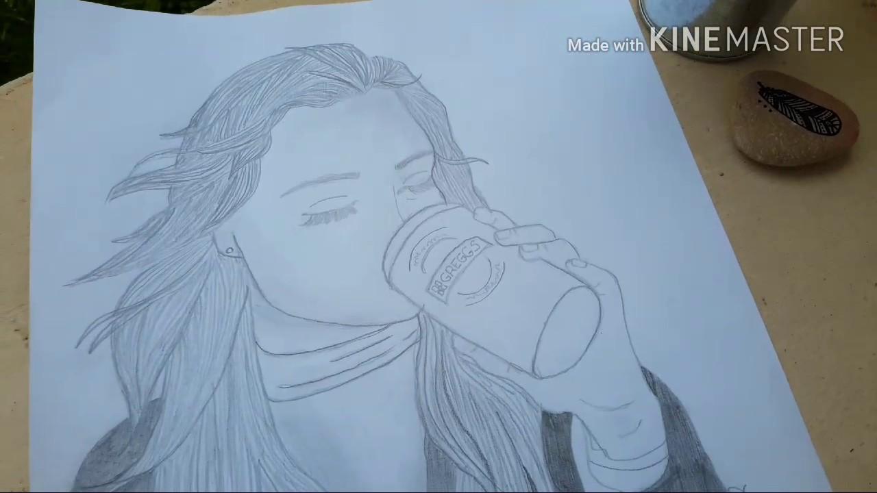 1 dessin fille tumblr youtube - Fille facile a dessiner ...