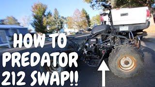 how to do a predator 212 engine swap