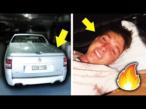 OVERNIGHT CHALLENGE IN MY UTE! (HOT)