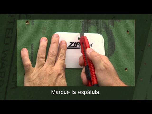 ZIP System™ liquid flash trowel -Spanish