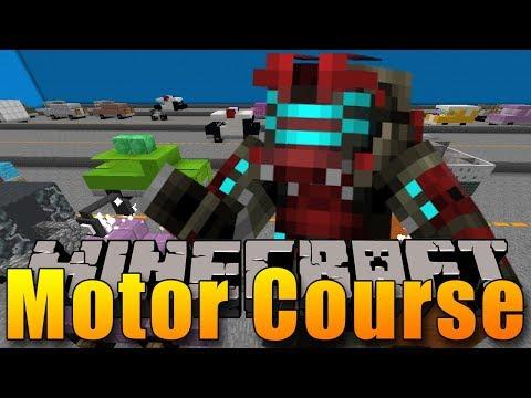PARKOUR PO JEZDÍCÍCH AUTECH? :O - Minecraft Motor Course
