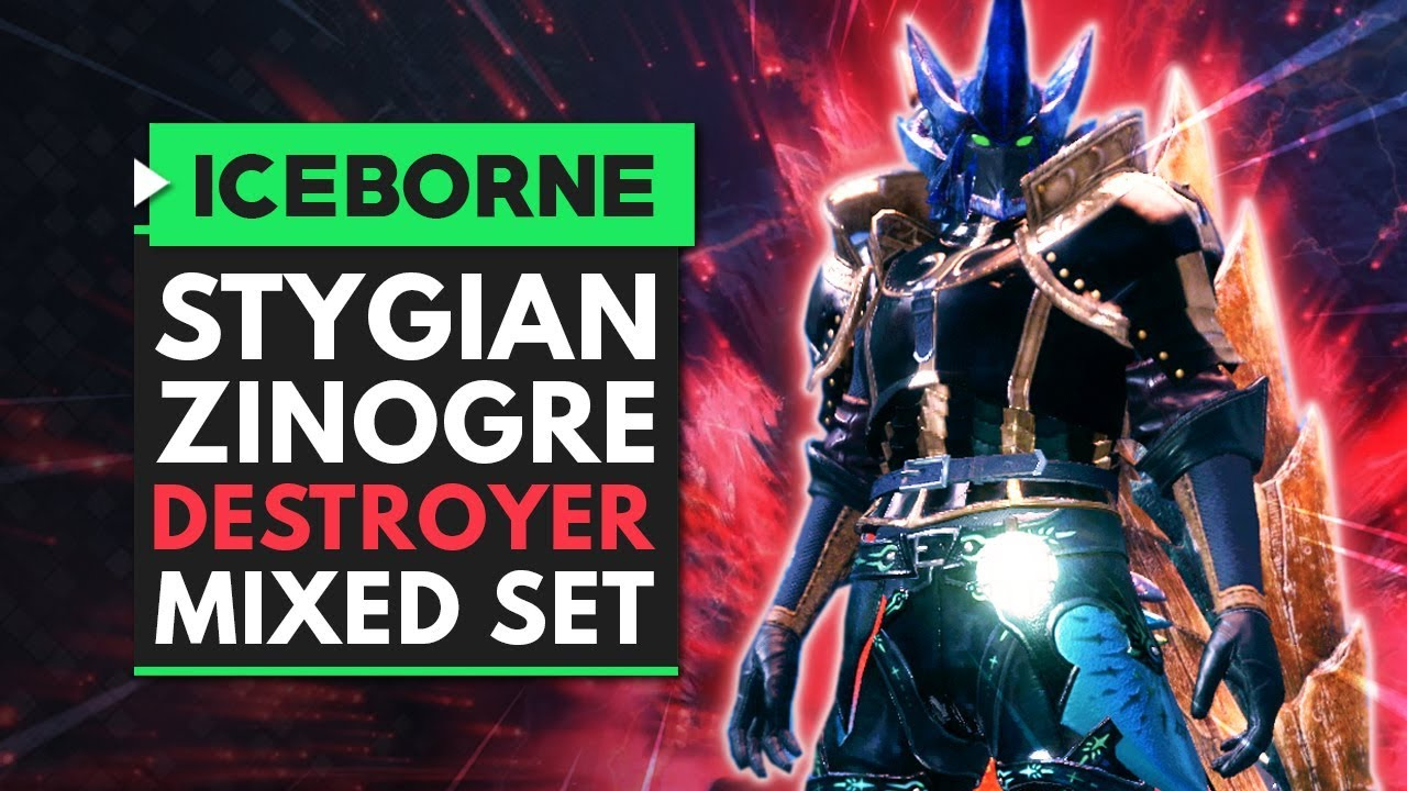 Monster Hunter World Iceborne | Stygian Zinogre DESTROYER Mixed Set thumbnail