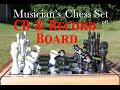 Chess Board made from Records and CDs - Musician's Chess set Pt 1