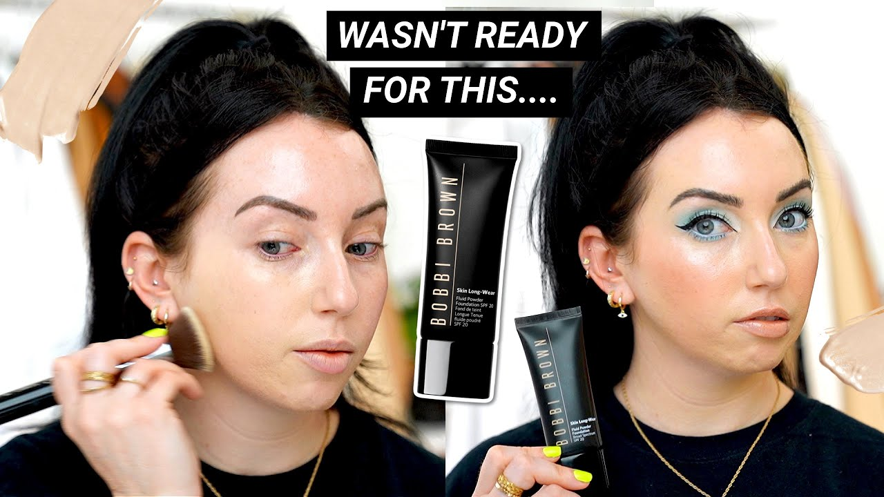 Well this didn't go as planned...Bobbi Brown Skin Long-Wear Fluid Powder Foundation FIRST IMPRESSION