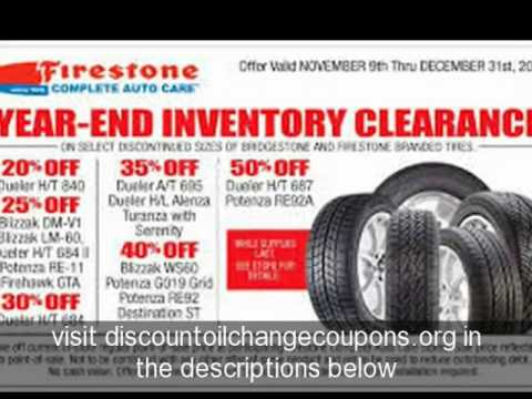 How To Find Free And Printable Firestone Coupons For Oil Change
