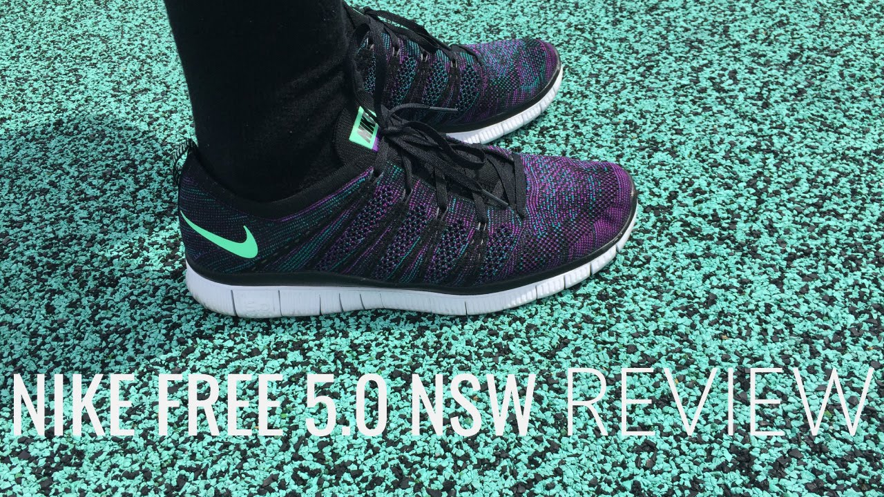 buy online c3872 705ad Nike Free 5.0 NSW Review (BlackGreen GlowRadiant EmeraldVivid Purple -  BluePrint EP3 - YouTube