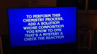 Chemistry on Jeopardy