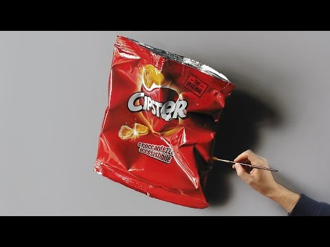 Empty Chips Bag | Still Life Painting  - 3D Art