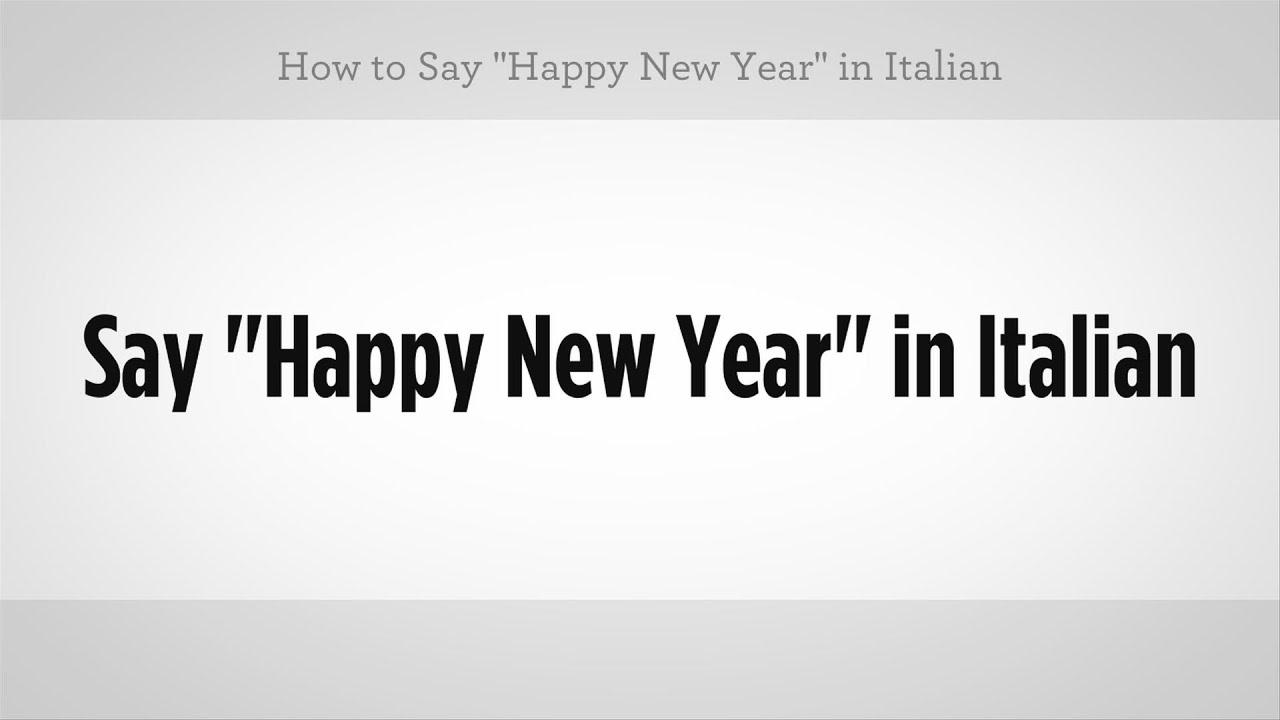 italian happy new year