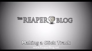 Making a Click Track in Reaper