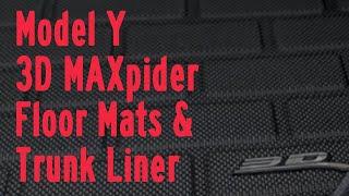 3dMAXpider Kagu Floor Mats & Trunk Liner Review -Tesla Model Y