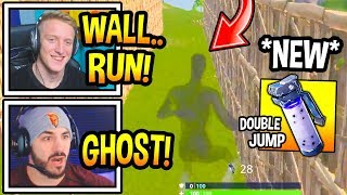 "Streamers FIRST TIME Using *NEW* ""SHADOW BOMB"" Grenade! (DOUBLE JUMP ABILITY) Fortnite Moments"