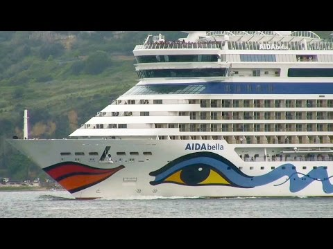 AIDA Cruises AIDAbella cruise ship in Lisbon