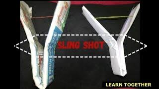 #paper sling shot 90's kids craft#paper craft for kids#easy paper sling shot