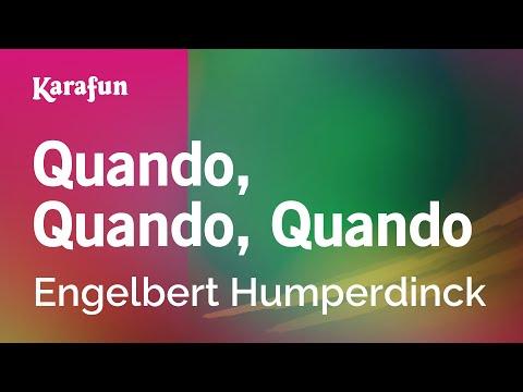 Karaoke Quando, Quando, Quando - Engelbert Humperdinck *