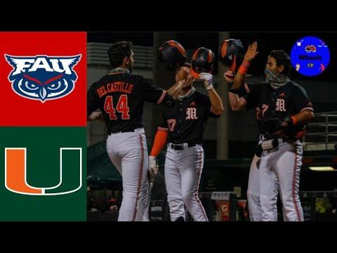 Download #20 Florida Atlantic vs #8 Miami Highlights   2021 College Baseball Highlights