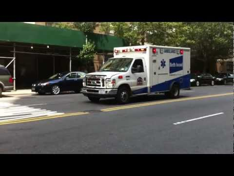 AMBULANCE FROM BETH ISRAEL HOSPITAL ON WEST 23RD ST. \u0026 6TH AVENUE IN CHELSEA SECTION OF NEW YORK.