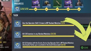 Call Of Duty Mobile Kill 10 Enemies with the Gravity Vortex Gun Operator Skill in MP Ranked Matches