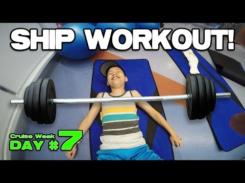 SHIP WORKOUT!!! Mini Golf & Arcade Action at Sea! [CRUISE WEEK DAY 7]
