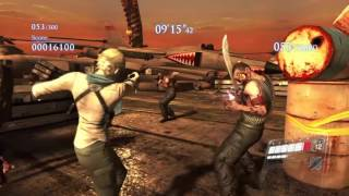 RESIDENT EVIL 6 PS4 mercenaries NO MERCY gameplay as sherry - High seas fortress