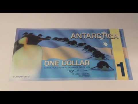 2010 $1 Antarctica Penguin Note