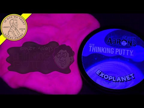 Crazy Aaron's Exoplanet Glow In The Dark Thinking Putty