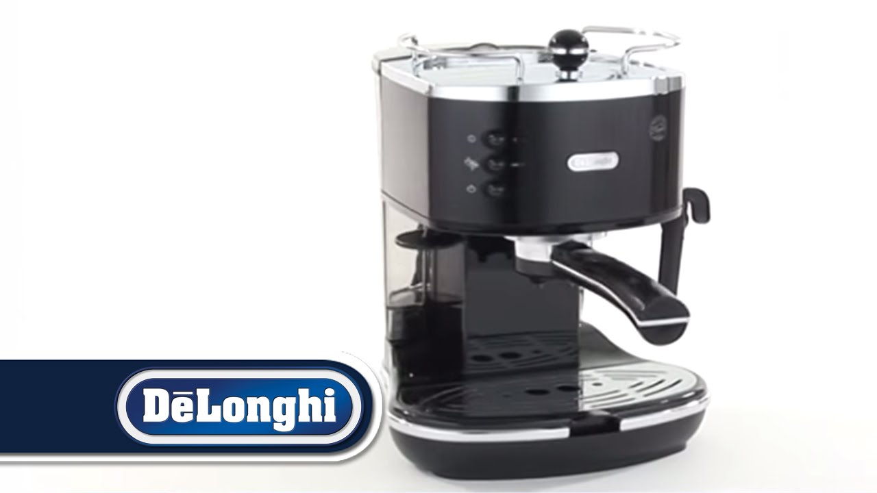 delonghi icona pump coffee machine eco310 blue black white red youtube. Black Bedroom Furniture Sets. Home Design Ideas