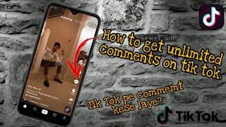 How To Get Unlimeted Comments On TikTok| TikTok Auto Comments 2019 | TikTok Comment Liker app 2019