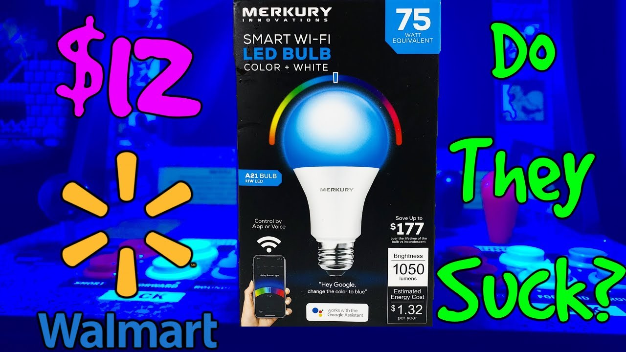 Led Lights At Walmart 12 Smart Wi Fi Led Bulbs From Walmart Do They Suck