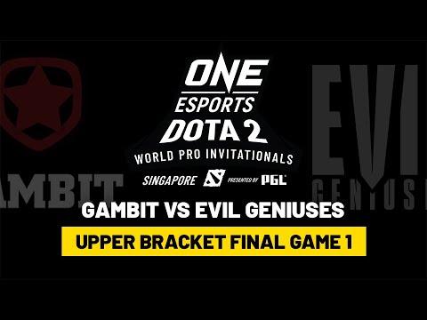 Gambit Vs EG - Game 1- Upper Bracket Finals - ONE Esports Dota 2 Singapore Invitational