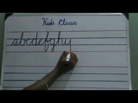 how to write cursive letters A to Z for kids and beginners. simlpe ...