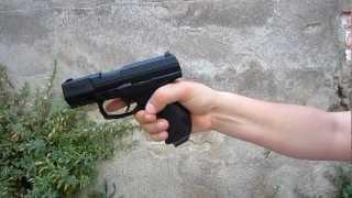 Pruebas de tiro pistola Walther CP99 compact Umarex CO2 con Blowback