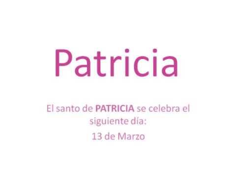 Significado do nome patricia