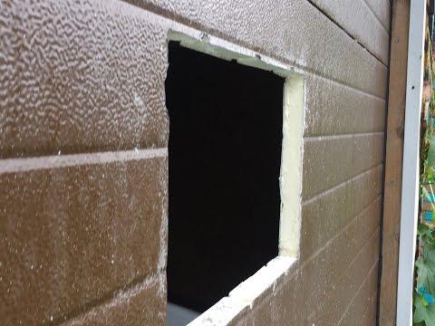 Врезаем окно в секционные ворота