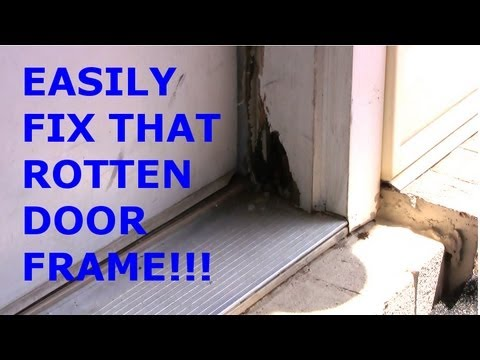 simple door frame rot repair