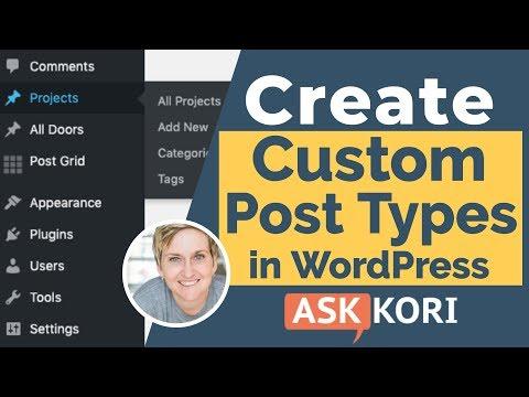 Make a Custom Post Type in WordPress