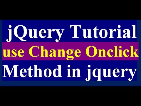 How to Use Change Method in jQuery - jQuery Tutorial