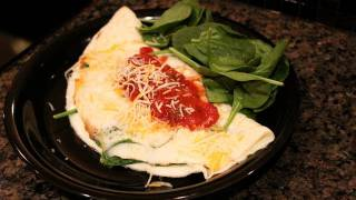 Bodybuilding Cutting Breakfast:  Egg White & Spinach Omelette