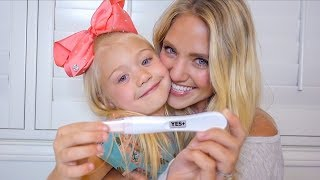 TELLING EVERLEIGH HER MOMMY IS PREGNANT!!! (TELLING OUR PARENTS TOO) thumbnail