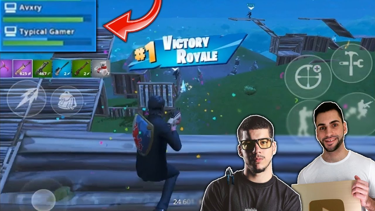 Winning a game of Fortnite with FaZe Avxry & Typical Gamer!