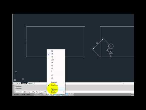 AutoCAD 2012 - Eliminating Construction Lines with Object Snap Tracking