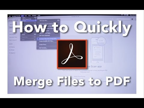 How To Merge Multiple Files Into One PDF On Adobe Acrobat